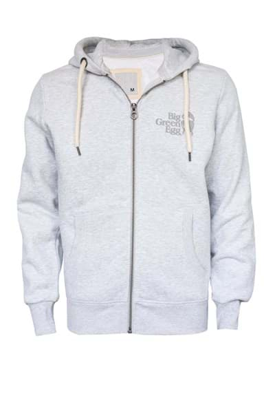 Immagine di HOODIE WITH ZIPPER - WHITE