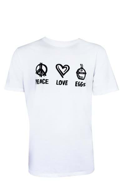 Image de T-SHIRT PEACE LOVE EGG - WHITE